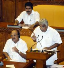 Chief Minister Oommen Chandy presenting Budget for 2016-17 on Friday