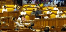 Kerala Finance Minister T. M. Thomas Isaac presenting the revised Budget for 2016-17 in the Assembly on July 8