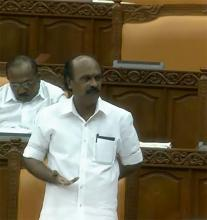 Revenue Minister E. Chandrasekharan replying to debate on Paddy Bill on Nov. 8
