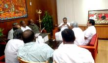 UDF leaders meet Chief Minister Pinarai Vijayan in his chamber on Thursday
