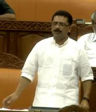 Minister K. T. Jaleel responding to notice for adjounrment motion on Friday