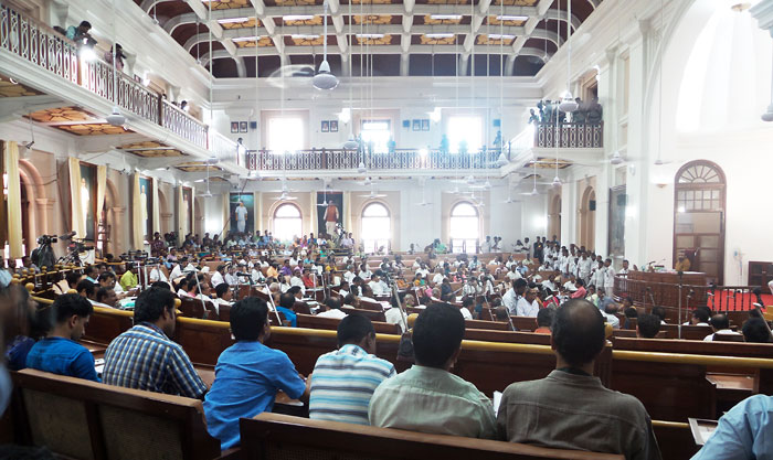 Kerala Assembly holding commemorative sitting at old Asssembly Hall on April 27, 2017