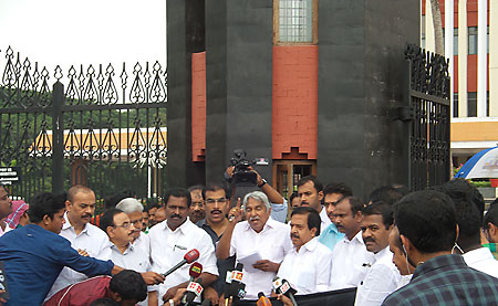 Opposition protest before Assembly (file photo)