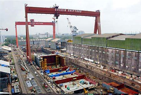 Cochin Shipyard (Photo: vickymon, wikimapia)
