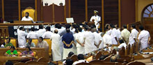 UDF protest inside the Kerala Assembly