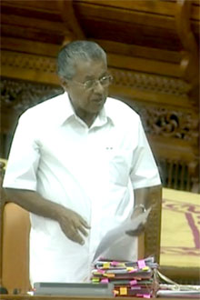 CM Pinarai Vijayan responding to Adjournment motion on Monday