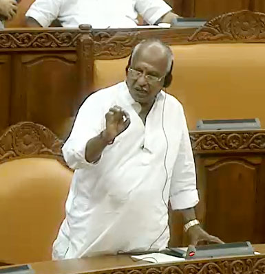 BJP member O. Rajagopal announcing his walkout on Nov. 2