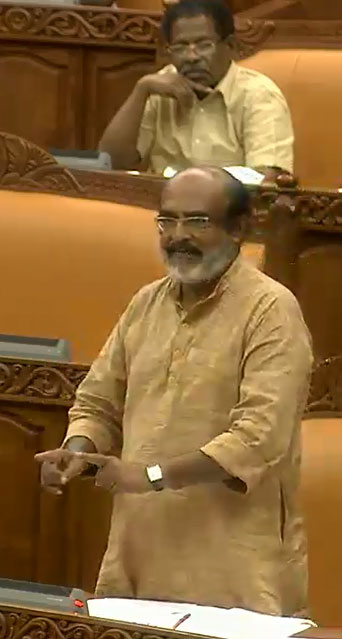 Kerala Finance Minister T. M. Thomas Isaac replying to general discussion on revised Budget on July 13.