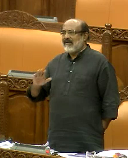 Kerala Finance Minister T. M. Thomnas Isaac replying to the debate on thef Finance Bill on Nov. 7