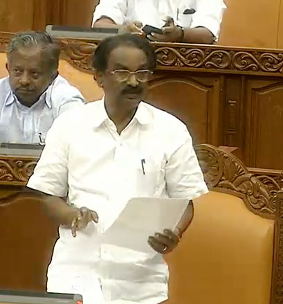 Law Minister A. K. Balan Piloting the Bill in the Assembly on Thursday