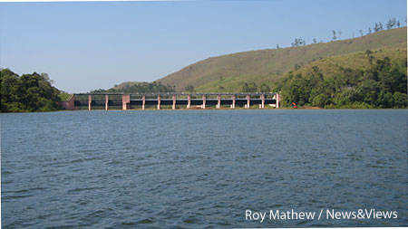Spillways of Mullaperiyar Dam